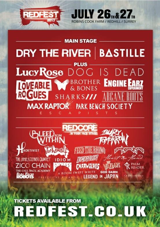 Redfest 2013 Line-up #festival