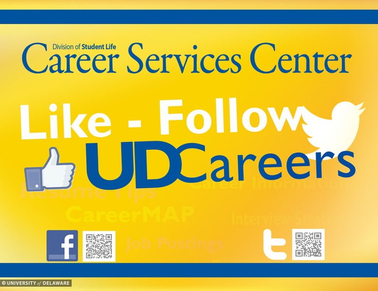 Find more valuable career advice & opportunities by following UDCareers on Facebook & Twitter!