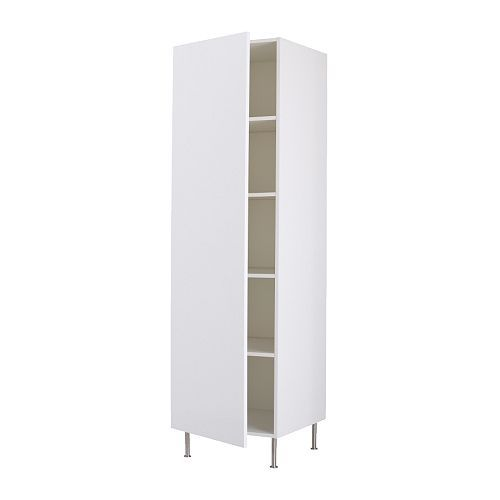 $405 FAKTUM High cabinet with shelves, Abstrakt white 60W 60D x 195H (no legs) x211H (legs) cm http://m.ikea.com/aa/en/catalog/products/spr/29880163/