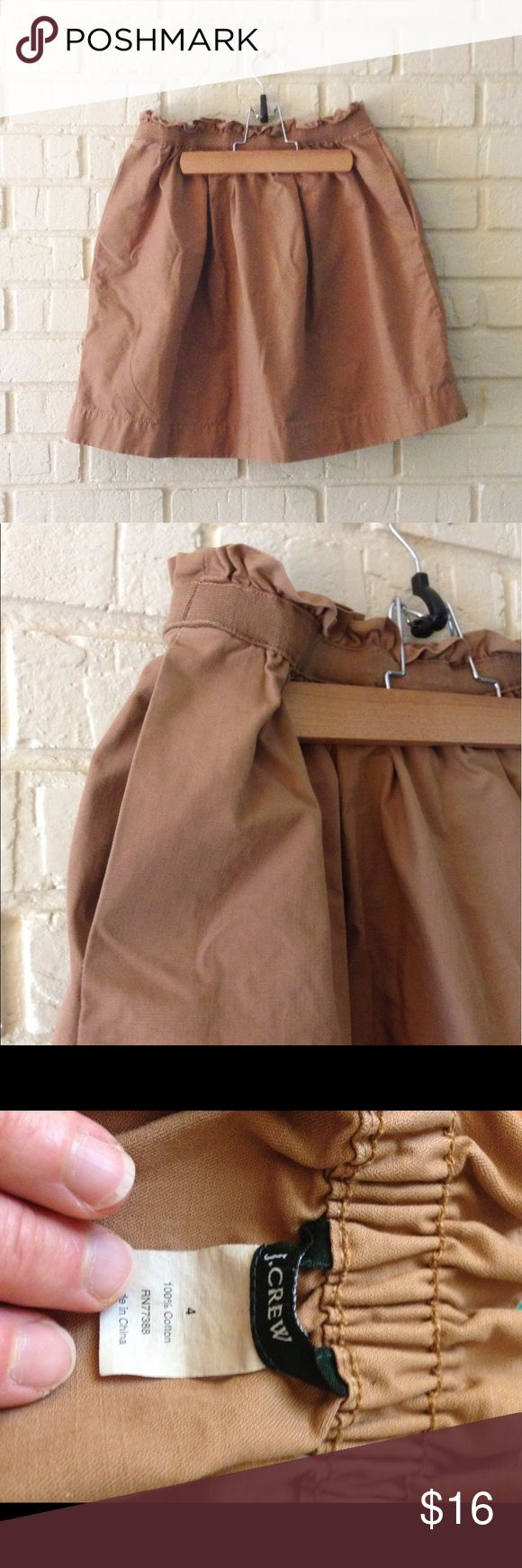 J. Crew camel skirt Adorable camel colored skirt. Cute with pockets! J. Crew Skirts Mini