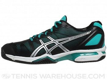 Asics Gel Solution Speed Clay Bk/Grn Women's Shoes