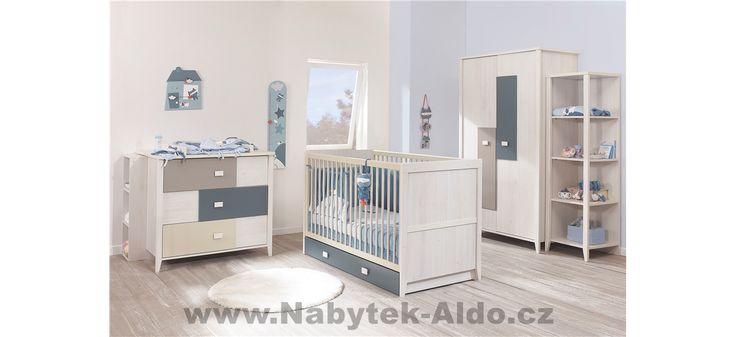 Kolekce Charly nabízí dětský nábytek rovněž pro chlapečky