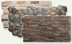 Faux stone veneer panels - easy to install - for the basement walls?