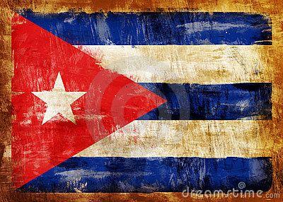 Bandera de Cuba - Old Painted Flag of Cuba