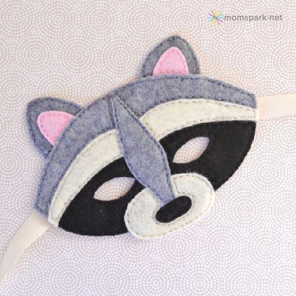 Racoon felt mask template (and basic plain template)