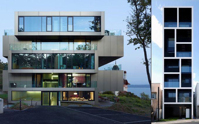 Apartments: Modern Building, Residential Building, Ipa Architects, Building Lermitag, Architecture Details, Houses Design, Pelati Architects, Andrea Pelati, Glasses Houses