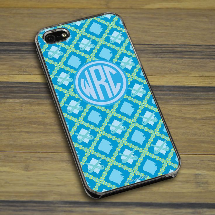 Preppy Monogrammed Iphone Cases