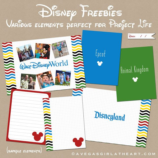 Free printables to use with your scrapbooking or photo books
