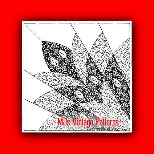 Vintage Quilt Pattern Cleopatra S Fan 1930s Depression