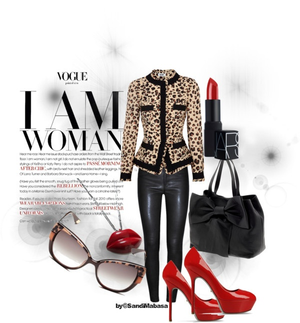 """""""Leopard Print Look"""" by thestylehousesa on Polyvore"""