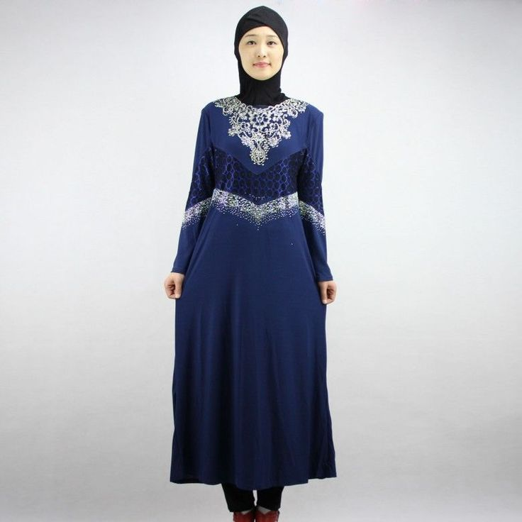 Free shipping Muslim Islamic Clothing for women Arabia Islamic abaya women 's Kaftan Jubba islam Apparel women thobe 101003