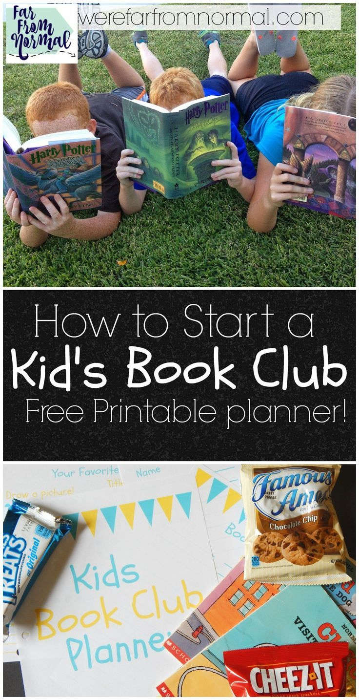 A book club is a great way to encourage your kids to read! This is a great…