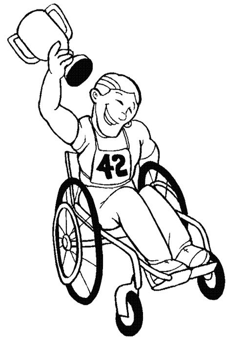 children with disabilities coloring pages - photo#17