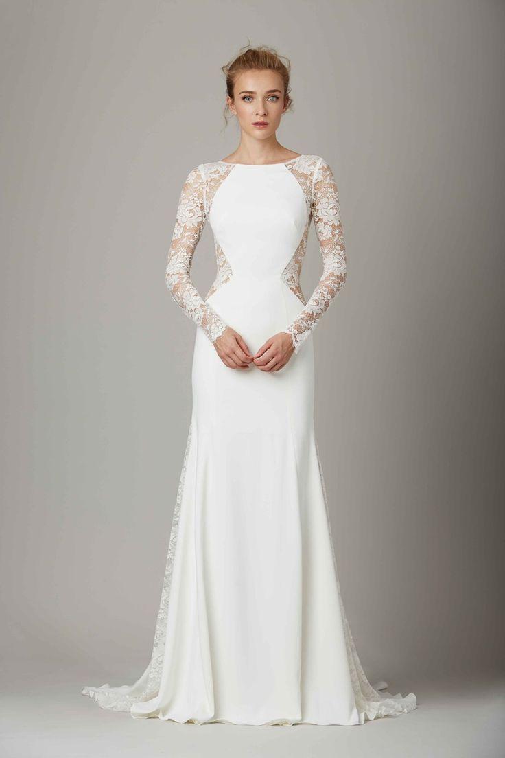 Best 25 boat neck wedding dress ideas on pinterest a for Top 5 wedding dress designers