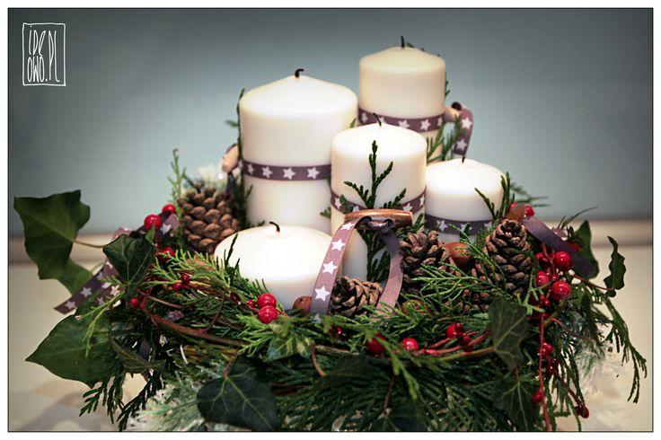x-mas wreath   stroik świąteczny