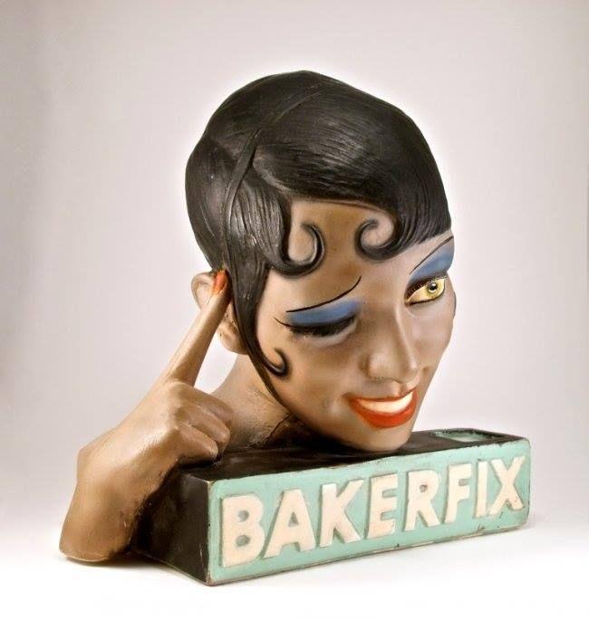 "Josephine Baker ""Bakerfix"" Hair Care Display, 1932"