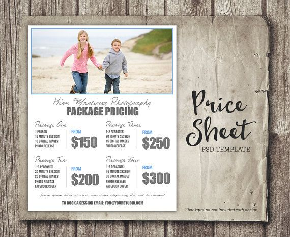 Photography Package Pricing  Photographer by StudioTwentyNine