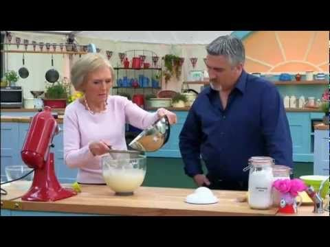 """How to Make Frasier Cake - From the BBC program """"The Great British Bake Off"""", Mary Berry shows Paul Hollywood how to make a French classic Frasier Cake"""