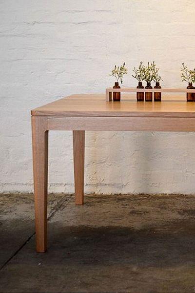 Tasmanian Oak dining table, Southwood Home $4250, 8 seater 2.250 x 105