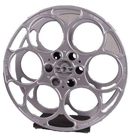 Vintage 15 inch 35mm film Reel converted by VintageFilmReelDecor, $129.00