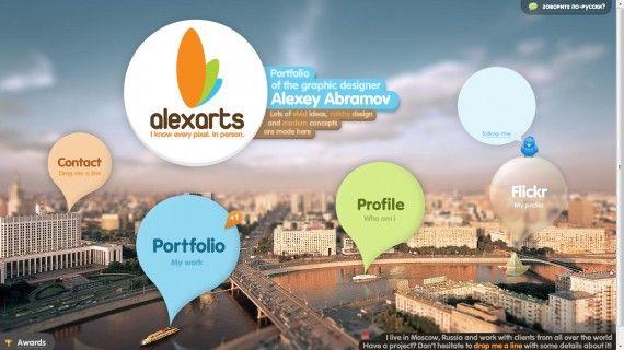 Website Portofolio Terbaik dengan Desain Keren - Alex Abrahamov