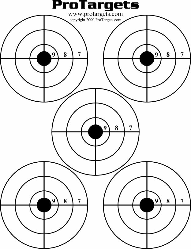 It's just a graphic of Selective Printable Pistol Targets