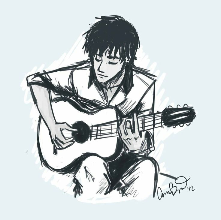 25+ best ideas about Guitar Drawing on Pinterest | Music ... Boy With Guitar Drawing