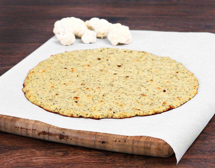 Cómo hacer una corteza de coliflor para pizza