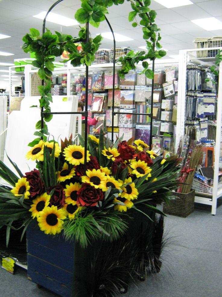 Pretty sunflower display at Kadina Cheap as Chips 2010