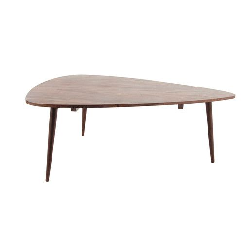 Table basse vintage en bois de sheesham massif L 117 cm