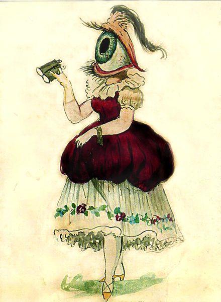 """Female Eye"", costume design, Krewe of Comus, New Orleans Mardi Gras, 1869"