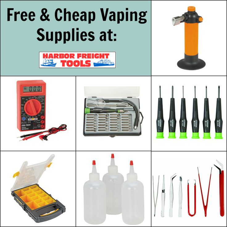7 Free & Cheap Vaping Supplies at Harbor Freight - http://vapingcheap.com/7-best-cheap-vaping-supplies-harbor-freight/