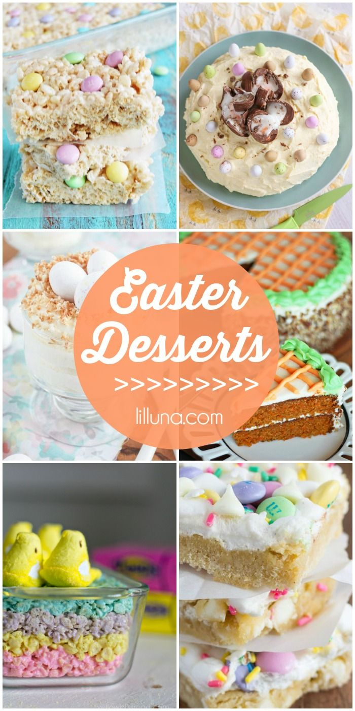 A roundup of Easter desserts - cute AND delicious!! { lilluna.com }