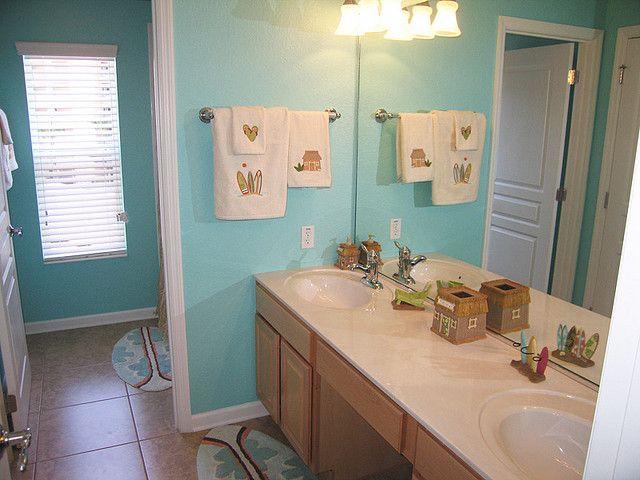 beach themed bathroom by sunkissedvillas via flickr