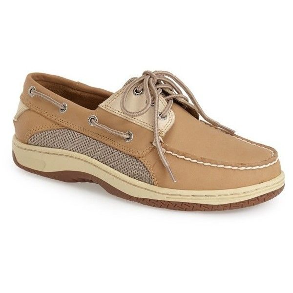 Men's Sperry 'Billfish' Boat Shoe ($60) ❤ liked on Polyvore featuring men's fashion, men's shoes, men's loafers, mens deck shoes, mens sperry topsiders, sperry mens shoes, mens mesh shoes and mens shoes