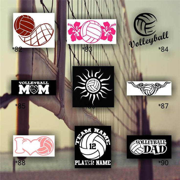 Best Images About Volleyball On Pinterest Trainers Team - Team window decals personalized