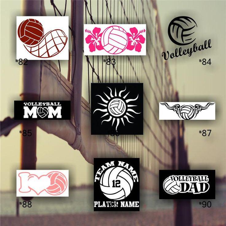VOLLEYBALL vinyl decals - car sticker - team sports decal - team spirit decal - personalized volleyball sticker - #82-90