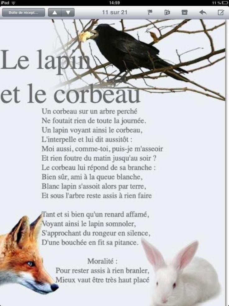 Le lapin et le corbeau