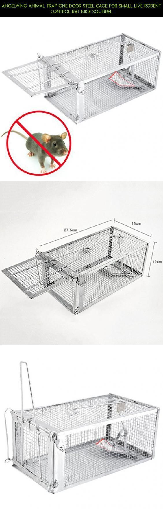 Angelwing Animal Trap One Door Steel Cage for Small Live Rodent Control Rat Mice