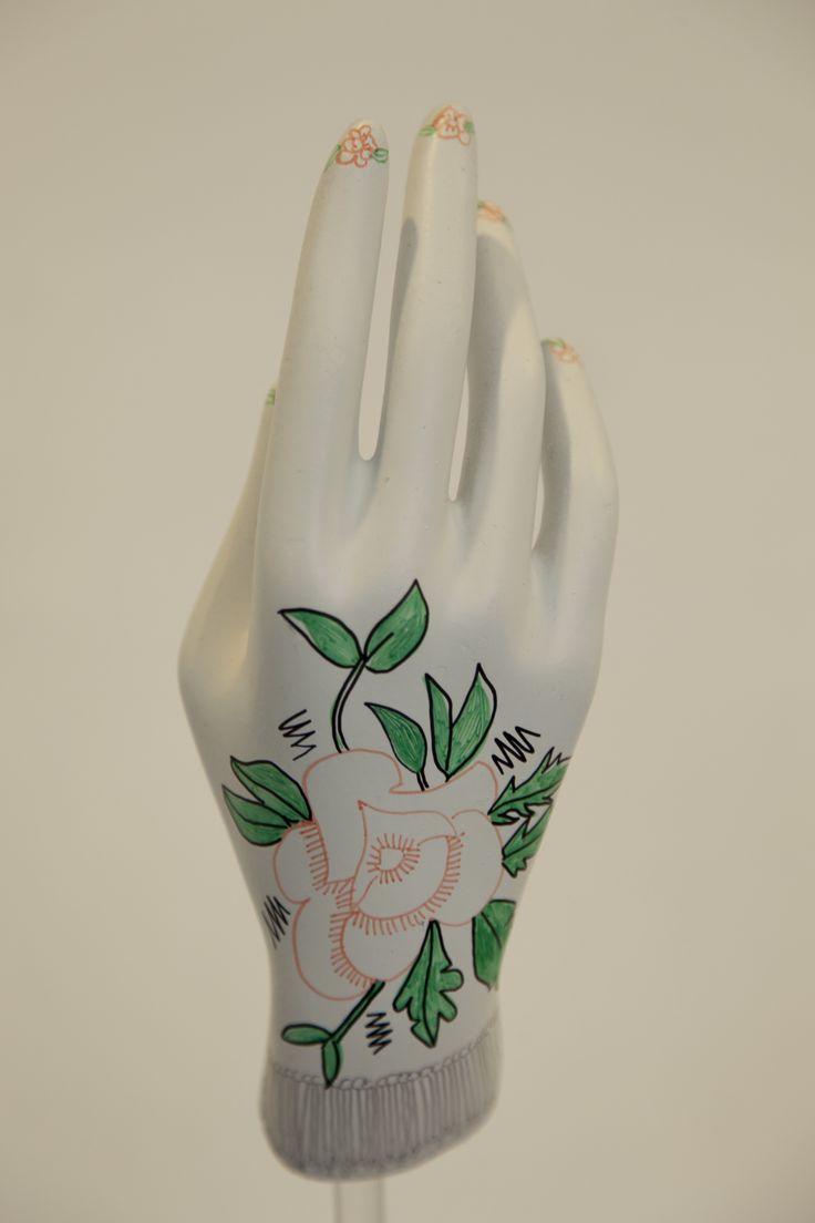 Hand Mannequin, Illustration, Floral