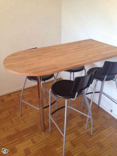 Nice Ikea Beech Solid Wood Table Top/breakfast Bar With Chrome Leg | United  Kingdom | Gumtree | Workspaces | Pinterest | Solid Wood Table Tops, Breakfast  Bars ...
