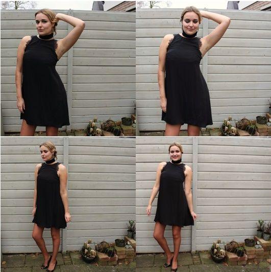 Deze zwarte jurk is een perfecte feestdagoutfit. Lees onze blog voor alle feestdagoutfits en tips