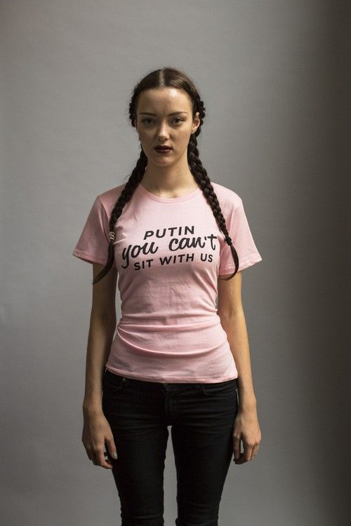 T-shirt design for the pride festival - Putin you can't sit with us