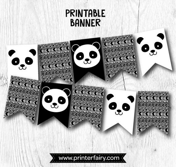 Panda Banner Panda Birthday Party Panda Baby Shower Panda