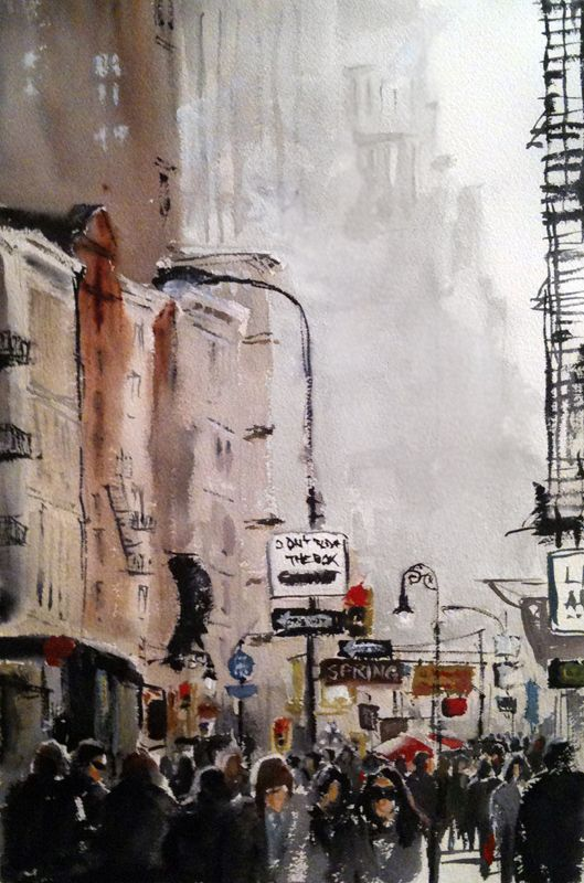 #barbaravontannenberg #newdivision #illustration #watercolour #gouache #textured #street #character