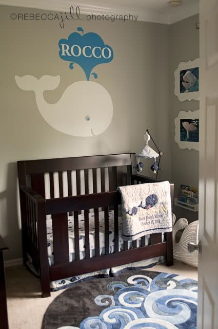 """whale nursery. Pinning it to """"Social"""" because my first thought was """"Twitter fail whale!"""" Addicted to social media much? Lol."""