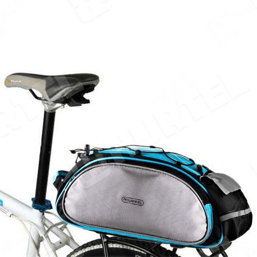 Uniwersalna torba sakwa na rower bagażnik na ramię 2w1 niebieska