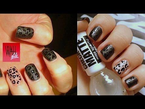 Leopard Matte Nails/ Leopardí matné nehty - http://www.nailtech6.com/leopard-matte-nails-leopardi-matne-nehty/