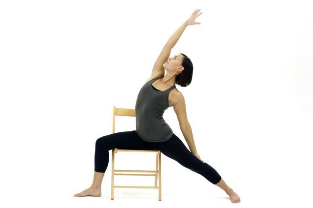 Chair yoga is a general term for practices that modify yoga poses so that they can be done while seated in a chair.