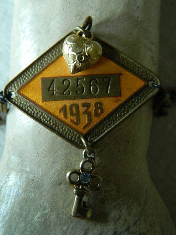 Assemblage Bracelet Rustic Industrial Vintage Metal by 58Diamond